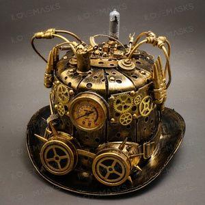 Steampunk Mad Scientist Time Traveler Top Hat Gold